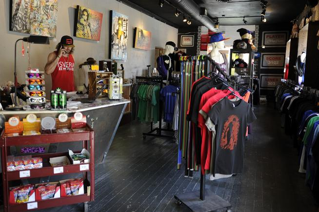 The River North Art District in Denver, Colorado, was recently certified as a Colorado Creative District. MegaFauna, a retail and collaboratve coworking space, gives artists a space to sell their goods, as well as create them in the space located behind t